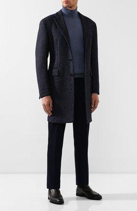 Мужские кожаные лоферы ALDO BRUE черного цвета, арт. AB8522H-MA   Фото 2