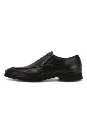 Мужские кожаные лоферы ALDO BRUE черного цвета, арт. AB8522H-MA   Фото 3