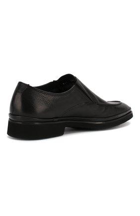 Мужские кожаные лоферы ALDO BRUE черного цвета, арт. AB8522H-MA   Фото 4