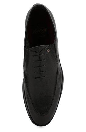 Мужские кожаные лоферы ALDO BRUE черного цвета, арт. AB8522H-MA   Фото 5