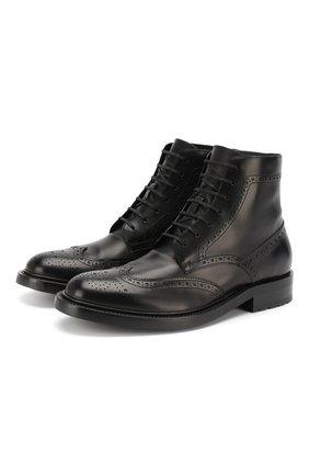Мужские кожаные ботинки army SAINT LAURENT черного цвета, арт. 587462/1G700 | Фото 1