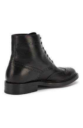 Мужские кожаные ботинки army SAINT LAURENT черного цвета, арт. 587462/1G700 | Фото 4
