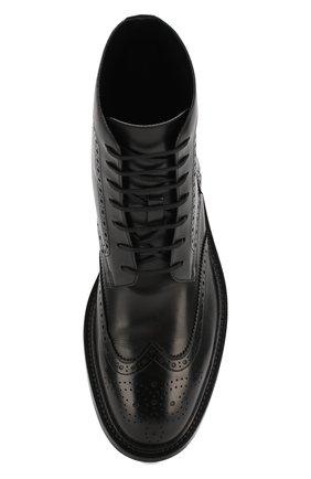 Мужские кожаные ботинки army SAINT LAURENT черного цвета, арт. 587462/1G700 | Фото 5