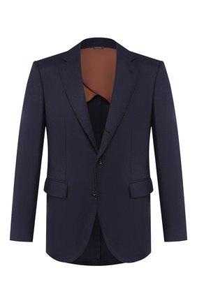 Мужской кашемировый пиджак LORO PIANA темно-синего цвета, арт. FAI7708 | Фото 1