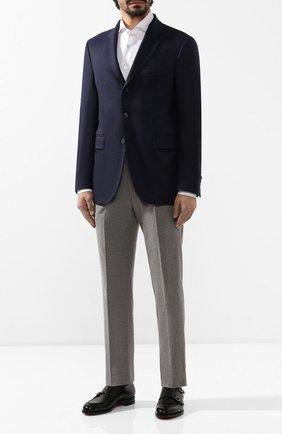 Мужской кашемировый пиджак LORO PIANA темно-синего цвета, арт. FAI7708 | Фото 2