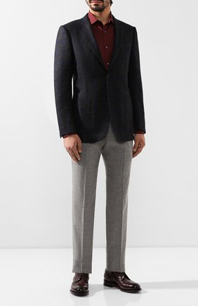 Мужской шерстяной пиджак ERMENEGILDO ZEGNA темно-синего цвета, арт. 650024/122520 | Фото 2