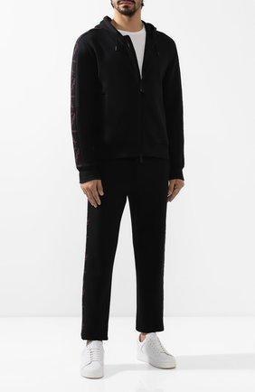 Мужские хлопковые джоггеры ZEGNA COUTURE черного цвета, арт. CTCJ02/6TJ40   Фото 2