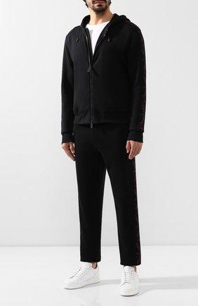 Мужской хлопковая толстовка ZEGNA COUTURE черного цвета, арт. CTCJ02/6TJ23 | Фото 2