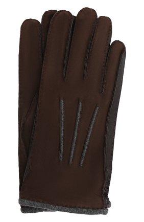 Мужские замшевые перчатки LORO PIANA темно-коричневого цвета, арт. FAF8675 | Фото 1
