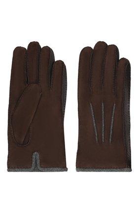 Мужские замшевые перчатки LORO PIANA темно-коричневого цвета, арт. FAF8675 | Фото 2