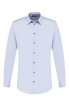 Мужская хлопковая сорочка DOLCE & GABBANA голубого цвета, арт. 0101/G5DM7T/FUEAJ | Фото 1