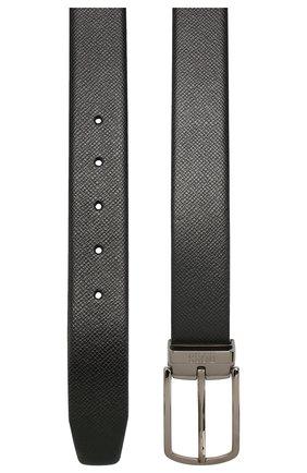 Мужской кожаный ремень BOSS черного цвета, арт. 50408106 | Фото 2