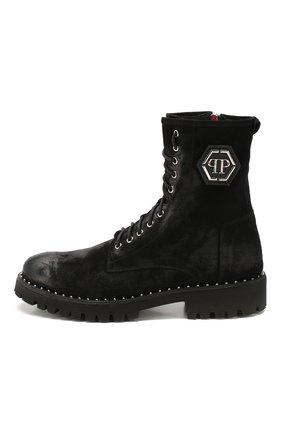 Мужские замшевые ботинки PHILIPP PLEIN черного цвета, арт. MSE0096   Фото 3