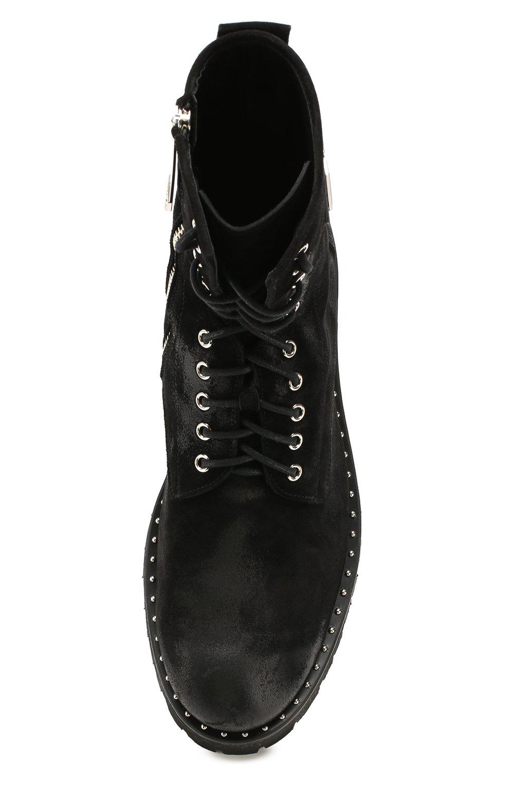 Мужские замшевые ботинки PHILIPP PLEIN черного цвета, арт. MSE0096   Фото 5
