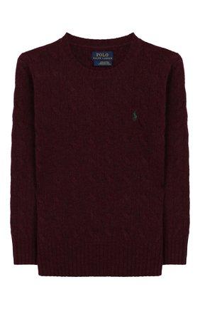 Детский пуловер из шерсти и кашемира POLO RALPH LAUREN бордового цвета, арт. 322702589 | Фото 1