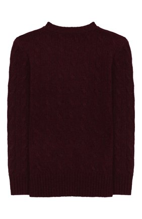 Детский пуловер из шерсти и кашемира POLO RALPH LAUREN бордового цвета, арт. 322702589 | Фото 2