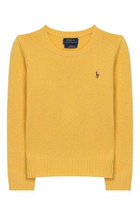 Детский пуловер из шерсти и кашемира POLO RALPH LAUREN желтого цвета, арт. 313751019 | Фото 1