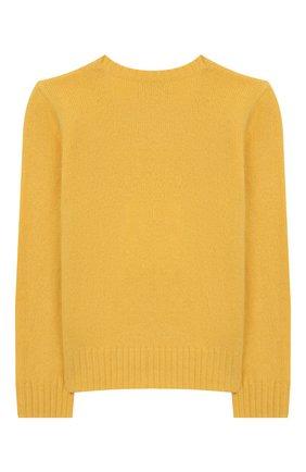 Детский пуловер из шерсти и кашемира POLO RALPH LAUREN желтого цвета, арт. 313751019 | Фото 2