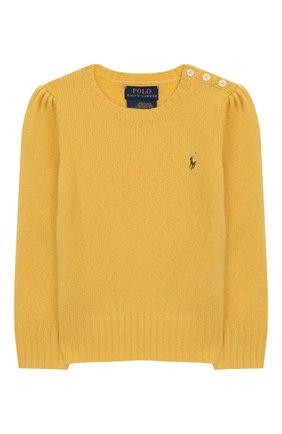 Детский пуловер из шерсти и кашемира POLO RALPH LAUREN желтого цвета, арт. 311751019 | Фото 1