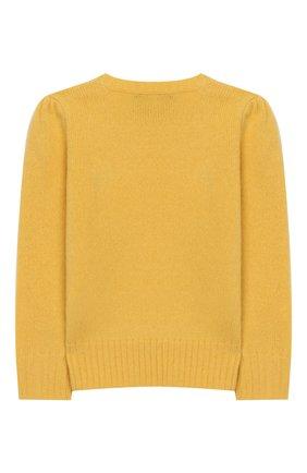 Детский пуловер из шерсти и кашемира POLO RALPH LAUREN желтого цвета, арт. 311751019 | Фото 2