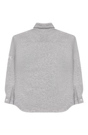 Детская хлопковая рубашка NATASHA ZINKO серого цвета, арт. FW19DU0520-05/3-8 | Фото 2