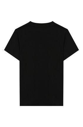 Детская хлопковая футболка NATASHA ZINKO черного цвета, арт. FW19DU0515-01/10-14 | Фото 2