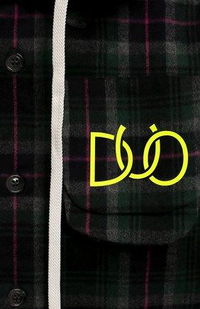Детская хлопковая рубашка с капюшоном NATASHA ZINKO зеленого цвета, арт. FW19DU0203-04/3-8 | Фото 3