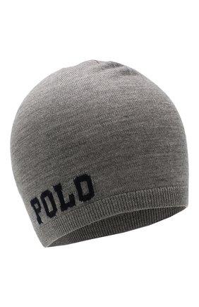 Детского шерстяная шапка POLO RALPH LAUREN серого цвета, арт. 322751591 | Фото 1
