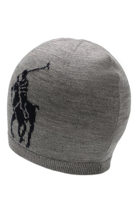 Детского шерстяная шапка POLO RALPH LAUREN серого цвета, арт. 322751591 | Фото 2