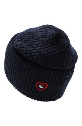 Детского шапка POLO RALPH LAUREN темно-синего цвета, арт. 313751618 | Фото 2