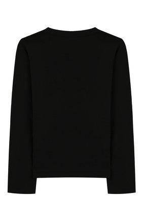 Детская хлопковый лонгслив VERSACE черного цвета, арт. YC000106/YA00019/8A-14A | Фото 2