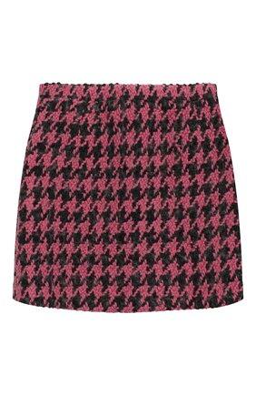 Детская твидовая юбка NATASHA ZINKO розового цвета, арт. FW19MNZ302-09/3-8 | Фото 1