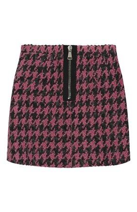 Детская твидовая юбка NATASHA ZINKO розового цвета, арт. FW19MNZ302-09/3-8 | Фото 2