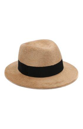 Женская фетровая шляпа SAINT LAURENT коричневого цвета, арт. 580332/3YA58 | Фото 1