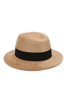 Женская фетровая шляпа SAINT LAURENT коричневого цвета, арт. 580332/3YA58 | Фото 2