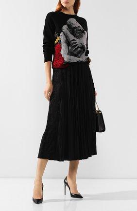 Женская плиссированная юбка VALENTINO черного цвета, арт. SB3MD00W4TG | Фото 2
