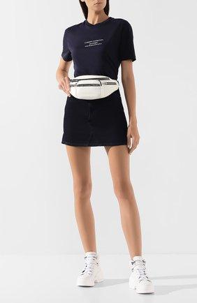 Женская хлопковая футболка STELLA MCCARTNEY черного цвета, арт. 381701/SMW83 | Фото 2