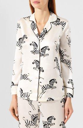 Женская шелковая пижама OLIVIA VON HALLE белого цвета, арт. CT0020 | Фото 2
