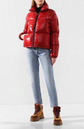Женский куртка moncler rimac MONCLER красного цвета, арт. E2-093-45915-00-C0067   Фото 2
