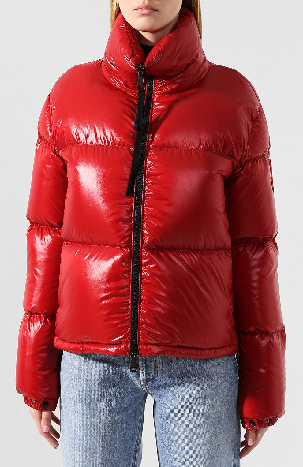 Женский куртка moncler rimac MONCLER красного цвета, арт. E2-093-45915-00-C0067   Фото 3