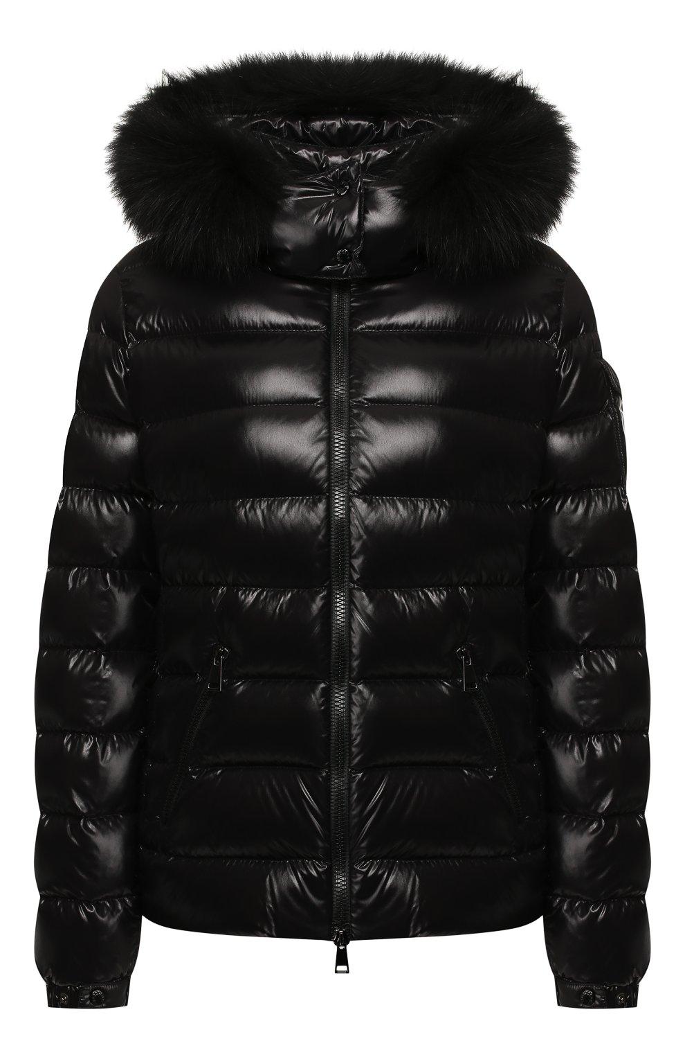Женский пуховая куртка badyfur MONCLER черного цвета, арт. E2-093-46314-25-C0061 | Фото 1