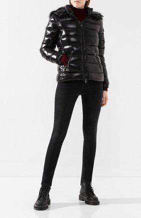 Женский пуховая куртка badyfur MONCLER черного цвета, арт. E2-093-46314-25-C0061 | Фото 2