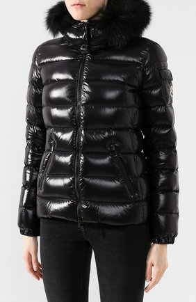 Женский пуховая куртка badyfur MONCLER черного цвета, арт. E2-093-46314-25-C0061 | Фото 3