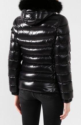 Женский пуховая куртка badyfur MONCLER черного цвета, арт. E2-093-46314-25-C0061 | Фото 4
