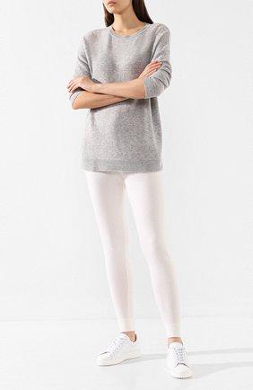 Женские кашемировые брюки-скинни LE KASHA белого цвета, арт. KENYA00 | Фото 2