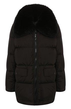 Женский пуховая куртка YS ARMY PARIS черного цвета, арт. 9WFV05676F62W | Фото 1