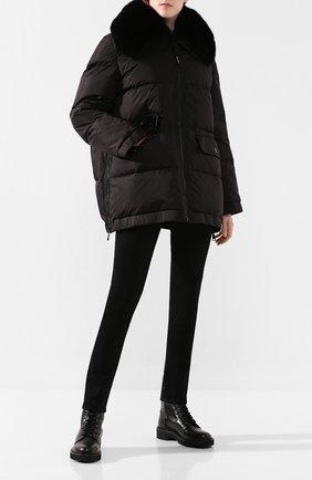 Женский пуховая куртка YS ARMY PARIS черного цвета, арт. 9WFV05676F62W | Фото 2