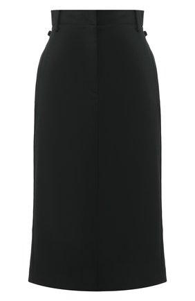 Женская юбка-миди ACNE STUDIOS зеленого цвета, арт. AF0063 | Фото 1