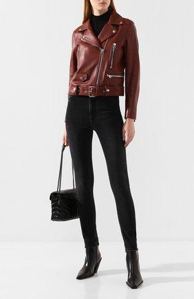 Женская кожаная куртка ACNE STUDIOS коричневого цвета, арт. 1AZ166 | Фото 2
