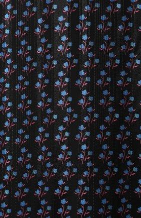 Женское платье с принтом PAUL&JOE черного цвета, арт. KANT0INETTE   Фото 5 (Случай: Повседневный; Материал внешний: Синтетический материал, Полиэстер; Длина Ж (юбки, платья, шорты): Миди; Материал подклада: Синтетический материал; Статус проверки: Проверено, Проверена категория; Рукава: 3/4)